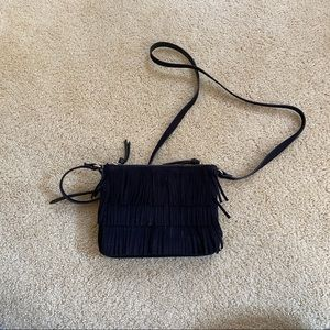 Black Fringe Crossbody